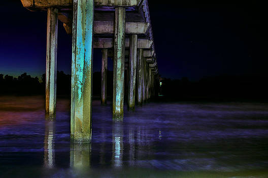 Scrips Pier at Night by Greg Amptman