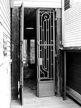 Scrollwork Doors -BW by Don Barnes