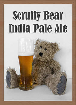 Scruffy Bear IPA Poster by William Patrick