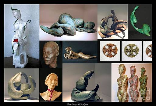 Sculptures Greeting Card composition by Flow Fitzgerald