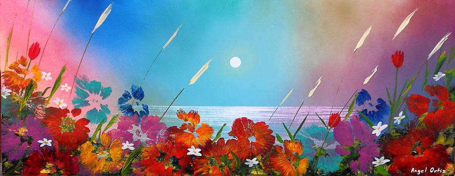 Sea floral 4 by Angel Ortiz