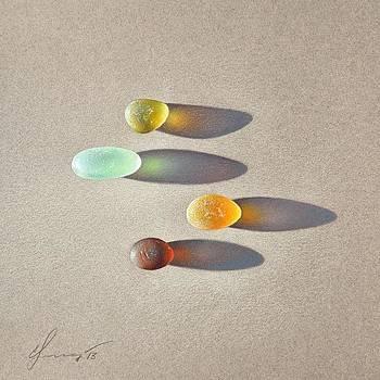 Sea glass - the race by Elena Kolotusha