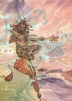 Sea God Guitarist by Harry Holiday