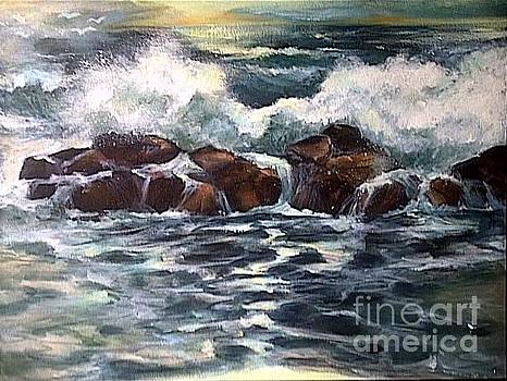 Sea greetings at dawn. by Estelle Hartley