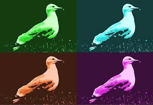 Sea Gulls 4  by Al Fritz