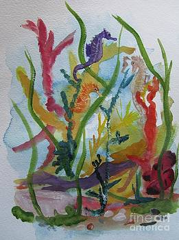 Sea Horses and mermaid by Susan Voidets