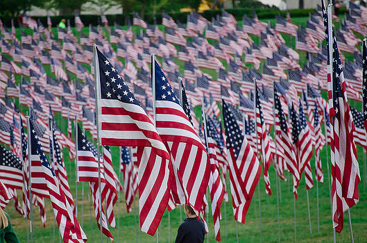Sea of Flags- 9/11 Memorial by Mindee Fredman