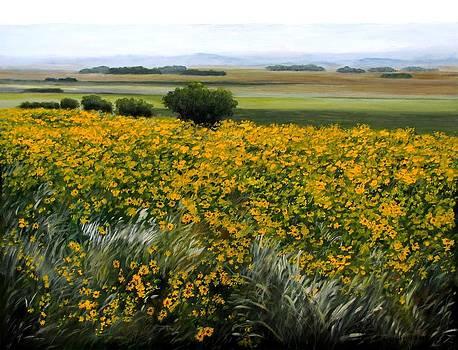 Sea of Sunflowers by Boris Garibyan