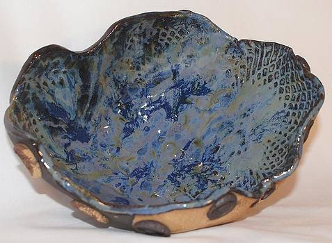 Sea Scapes Geodic Rock Bowl by Susan Perry