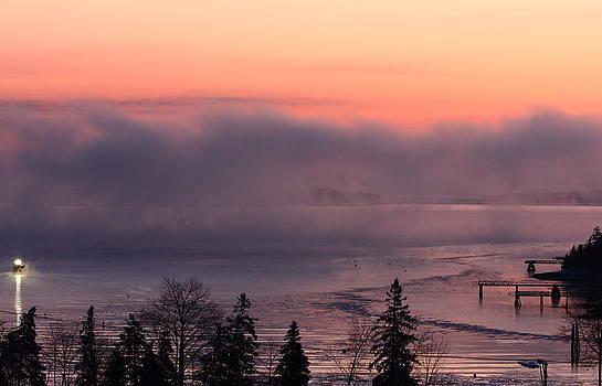 Sea Smoke at Sunrise by Dana Moos