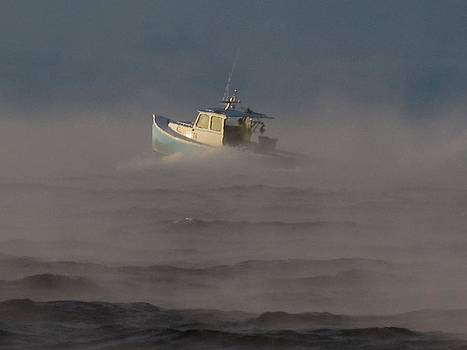 Sea Smoke Lobster Boat by Donnie Freeman