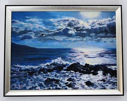 Sea sunrise - oil painting by Ivelin Vlaykov