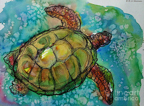 Sea Turtle Endangered Beauty by M C Sturman