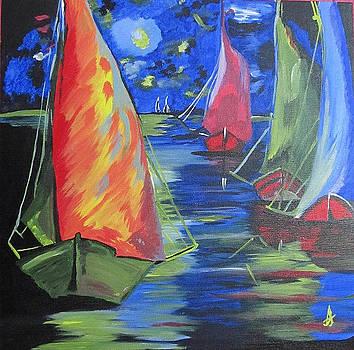 Sea View_Fabric Painting by Suhasini U
