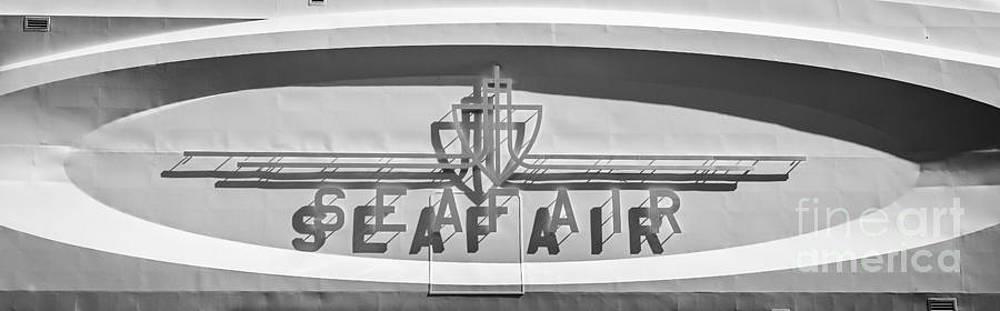Ian Monk - Seafair art venue yacht logo panel - Miami - Black and White