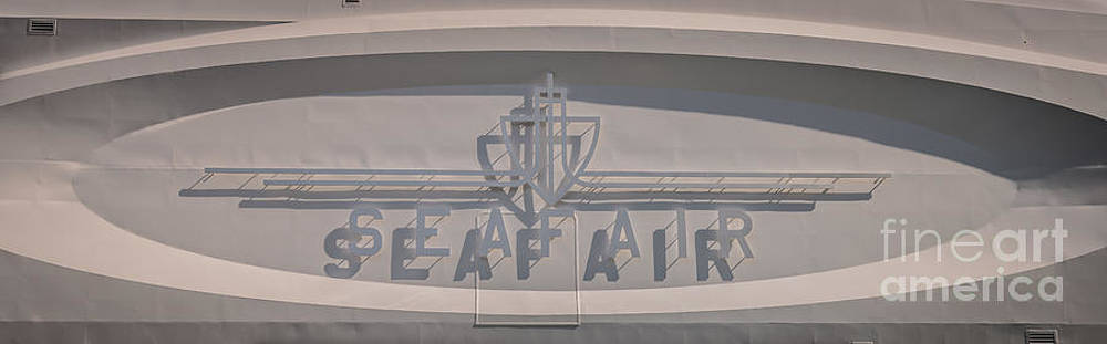 Ian Monk - Seafair art venue yacht logo panel - Miami