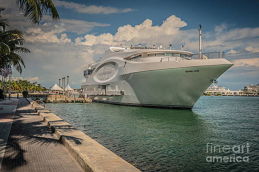 Ian Monk - Seafair art venue yacht moored in Miami - HDR Style