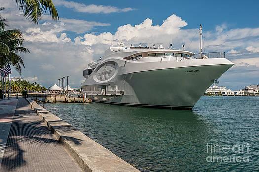 Ian Monk - Seafair art venue yacht moored in Miami