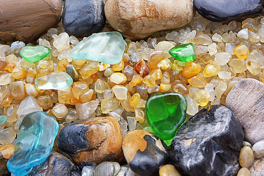 Baslee Troutman - Seaglass Art Prints Coastal Beach Sea Glass