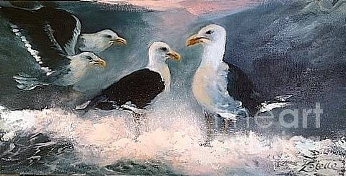 Seagulls - meeting ajourned. by Estelle Hartley