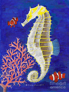 Seahorse and Clowns by David Jackson