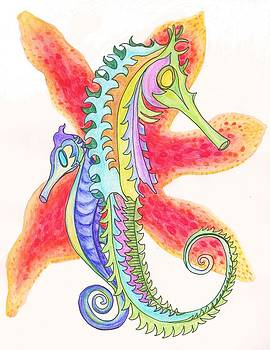 Seahorses by Cherie Sexsmith