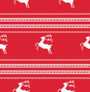 Seamless Christmas Pattern by Mike Taylor