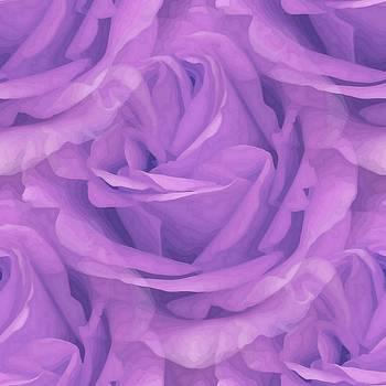 Tracey Harrington-Simpson - Seamless Purple Rose Vector