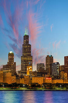 Sears Tower Sunset by Sebastian Musial