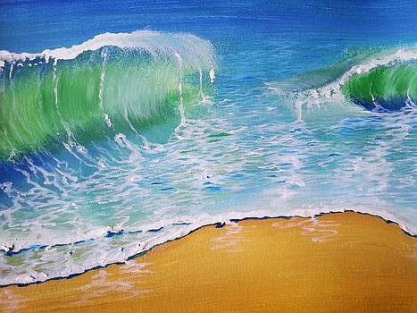 Seas of emerald and topaz by Stephanie Bridge