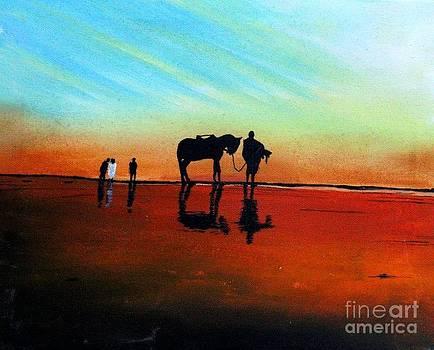 Seascape - Karachi by Sakina Zaidi