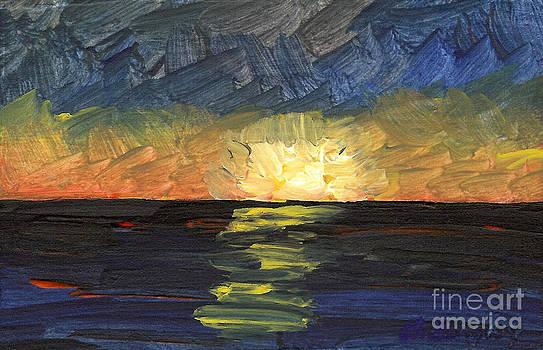 Seascape 9 by Helena M Langley
