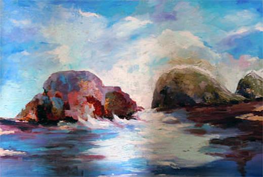 Seascape in Malta by Michael Echekoba