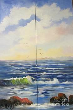Seascape with Rocks by Barbara Haviland
