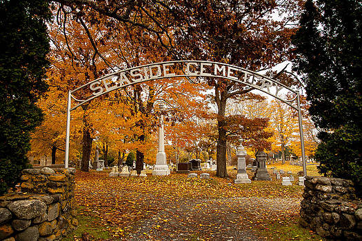 Seaside Cemetery entrance  by David Smith