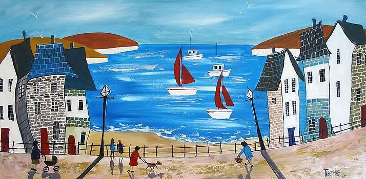 Seaside Coastline by Trudy Kepke