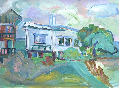 Seaside Cottage by Brenda Ruark