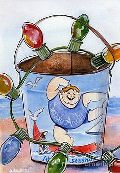 Seaside Holiday Sand Pail  by Sheryl Heatherly Hawkins