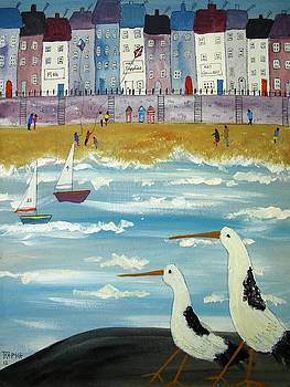 Seaside sailing by Trudy Kepke