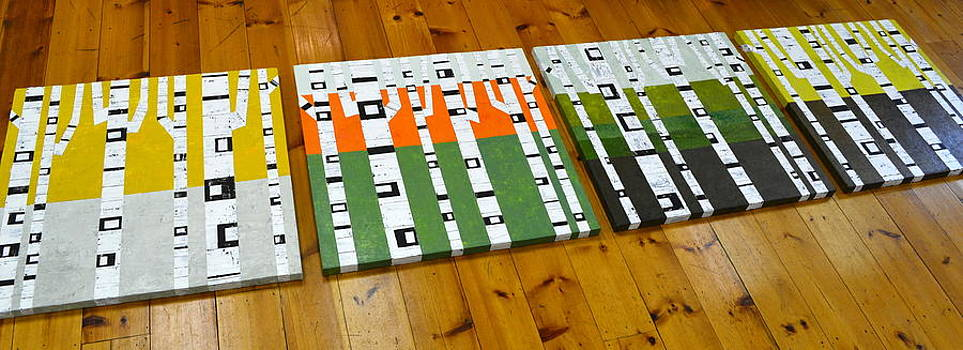 Michelle Calkins - Seasonal Birches - Artprize 2014