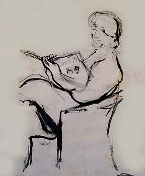 Seated Figure Reading by James Gallagher