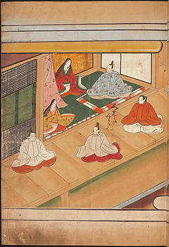 Seated Japanese Nobles by British Library