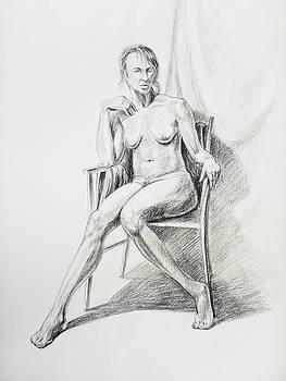 Irina Sztukowski - Seated Nude Model Study