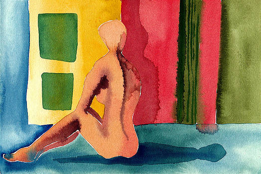 Seated Nude by Ruth Brown