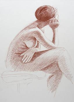 Seated woman by Pablo Rivera