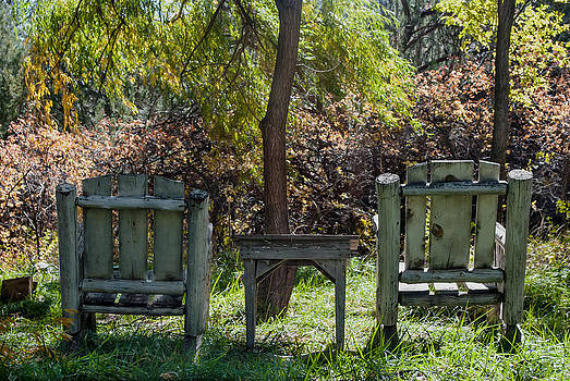 Seats In the Park by Sheryl Cox