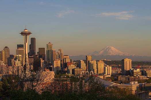 Seattle at Sunset by Julie Jamieson