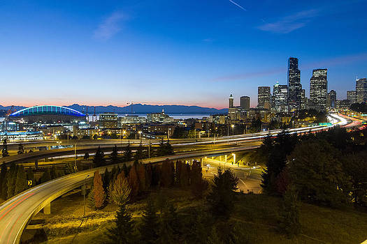Seattle by Night2 by Daryl Hanauer