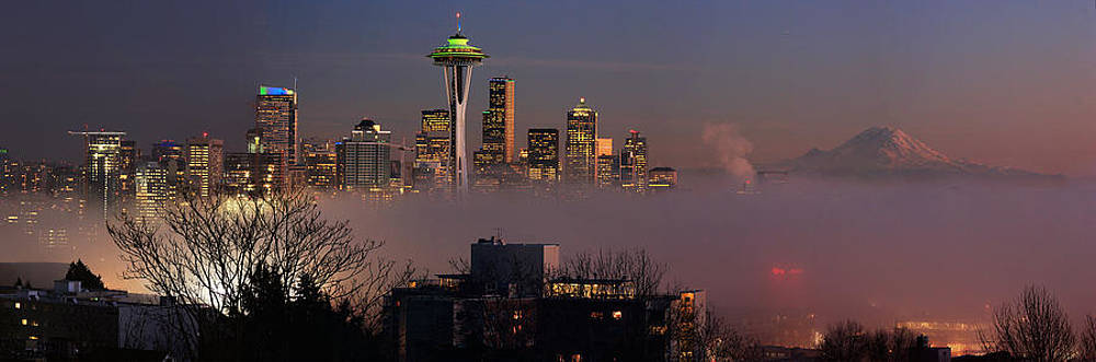 Seattle Cloud City by Michael Canfield