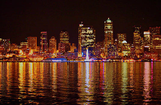 Seattle from water by Donald Torgerson